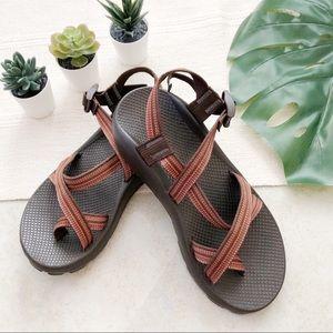 Chaco Men's Sz 10 Brown Orange Sandals Outdoors